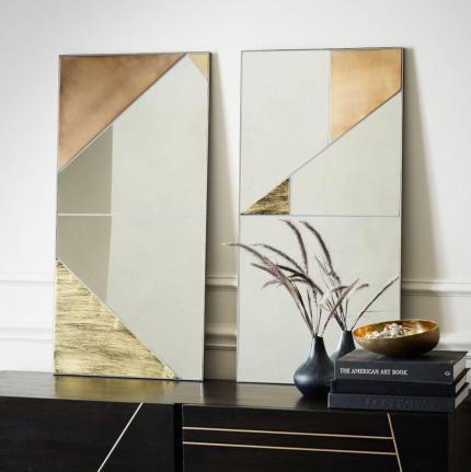 West Elm Infinity mirrors